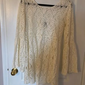 Woman summer lace off white dress